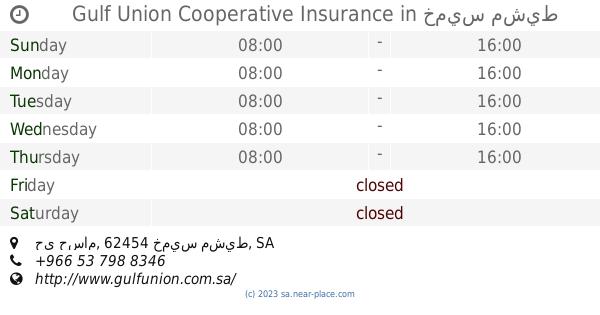 شركة سلامة للتأمين التعاوني Khamis Mushait Opening Times Tel 966 9200 23355